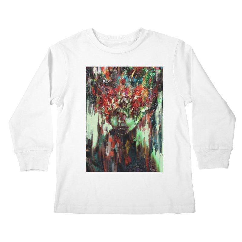 Chaotic Mind Kids Longsleeve T-Shirt by nicebleed