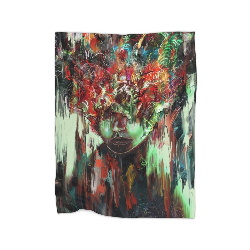 Chaotic Mind Home Blanket by nicebleed