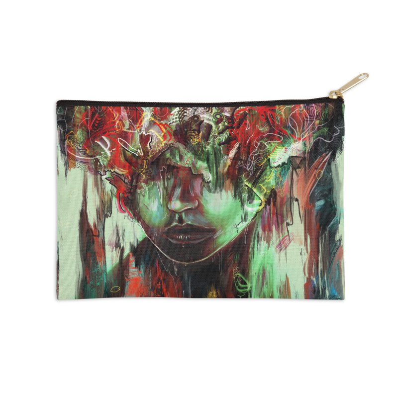 Chaotic Mind Accessories Zip Pouch by nicebleed