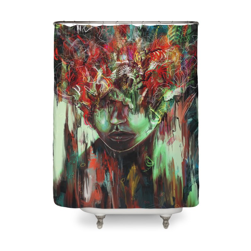 Chaotic Mind Home Shower Curtain by nicebleed