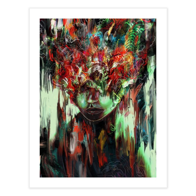 Chaotic Mind Home Fine Art Print by nicebleed