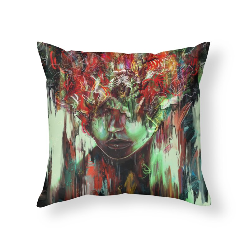 Chaotic Mind Home Throw Pillow by nicebleed