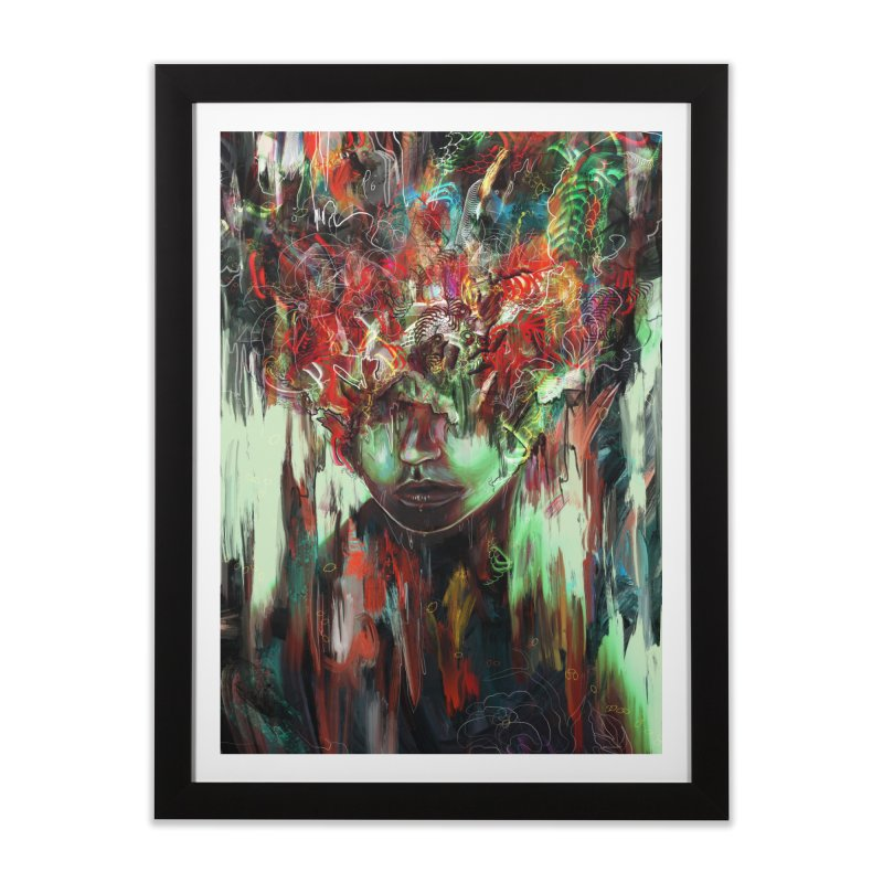 Chaotic Mind Home Framed Fine Art Print by nicebleed