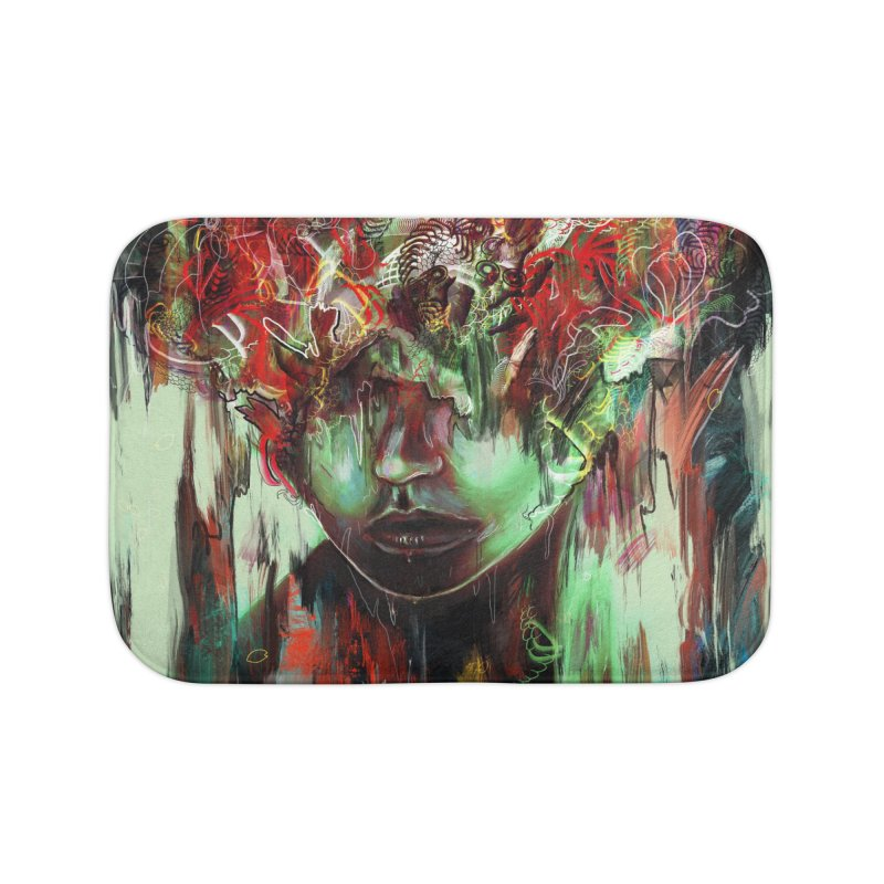 Chaotic Mind Home Bath Mat by nicebleed