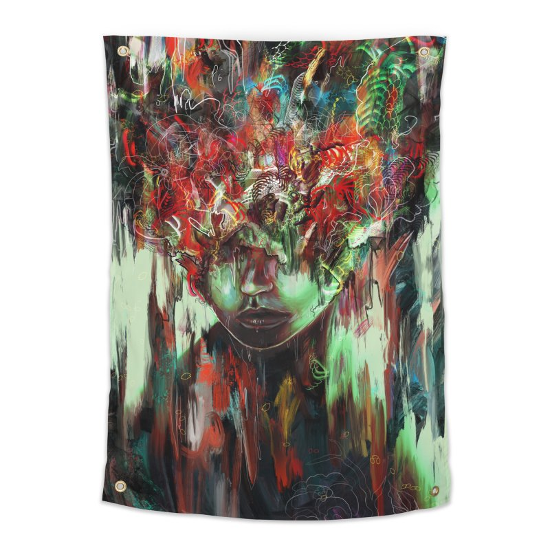 Chaotic Mind Home Tapestry by nicebleed