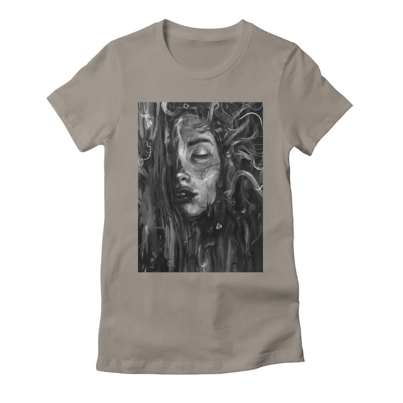 Deep Women's Fitted T-Shirt by nicebleed