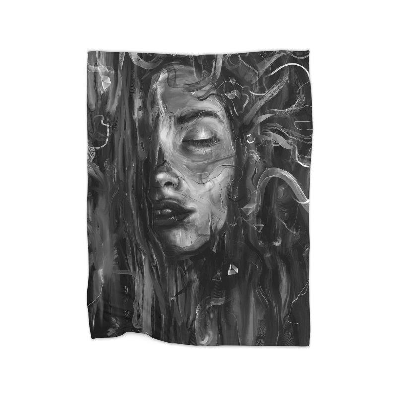 Deep Home Fleece Blanket by nicebleed