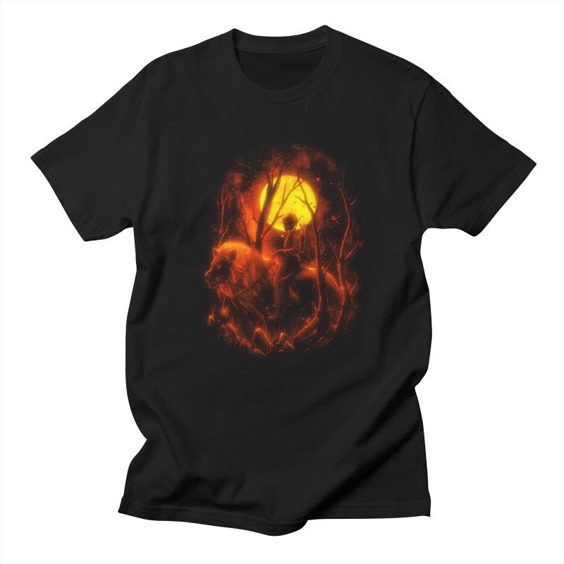 The Hunter in Men's Regular T-Shirt Black by nicebleed