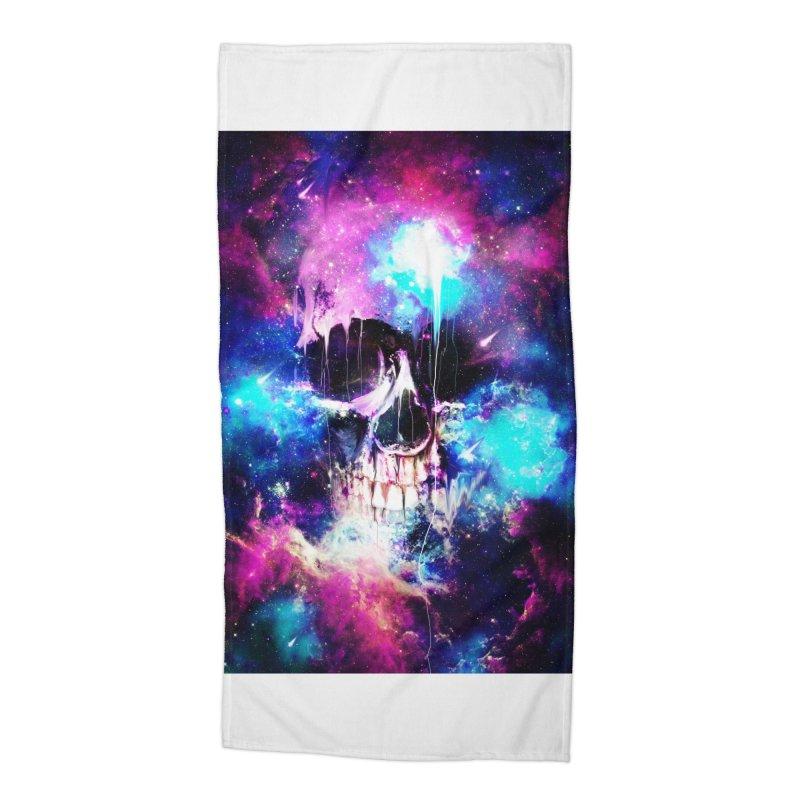 Space Skull Accessories Beach Towel by nicebleed