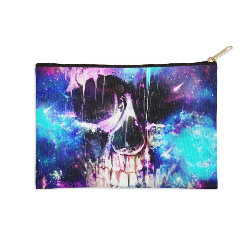 Space Skull Accessories Zip Pouch by nicebleed