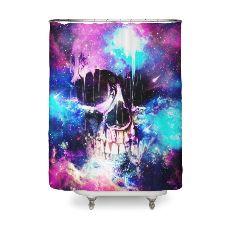 Space Skull Home Shower Curtain by nicebleed
