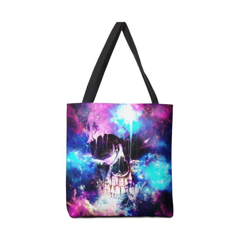 Space Skull Accessories Bag by nicebleed