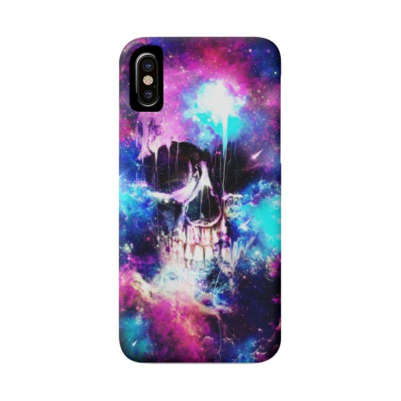 Space Skull Accessories Phone Case by nicebleed