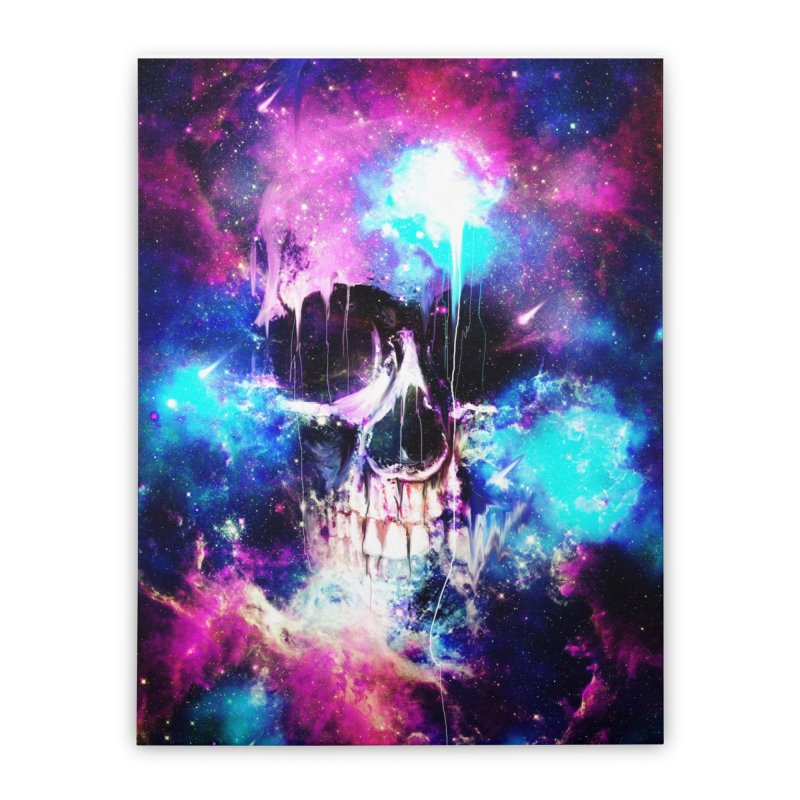 Space Skull Home Stretched Canvas by nicebleed