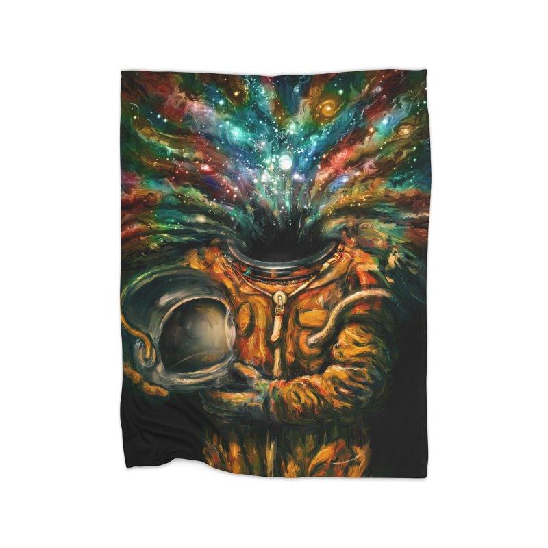 Inhale Home Fleece Blanket by nicebleed