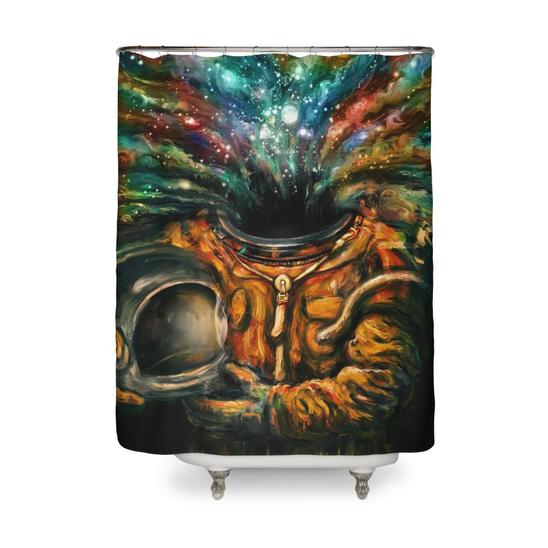 Inhale Home Shower Curtain by nicebleed