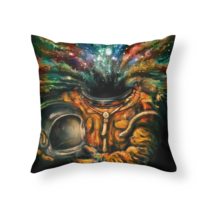 Inhale Home Throw Pillow by nicebleed