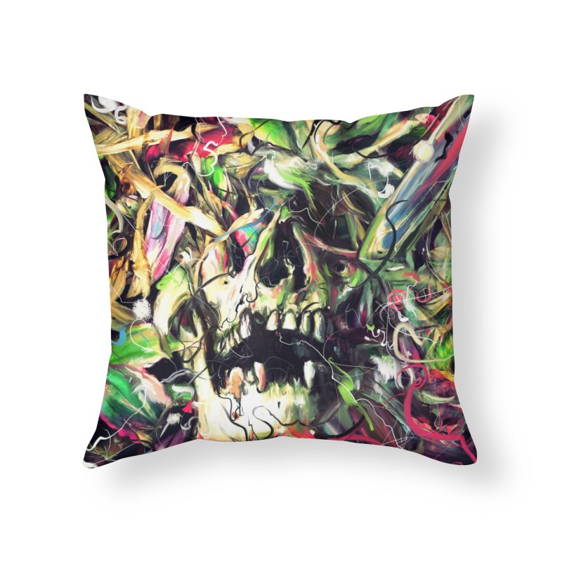 Buried Home Throw Pillow by nicebleed