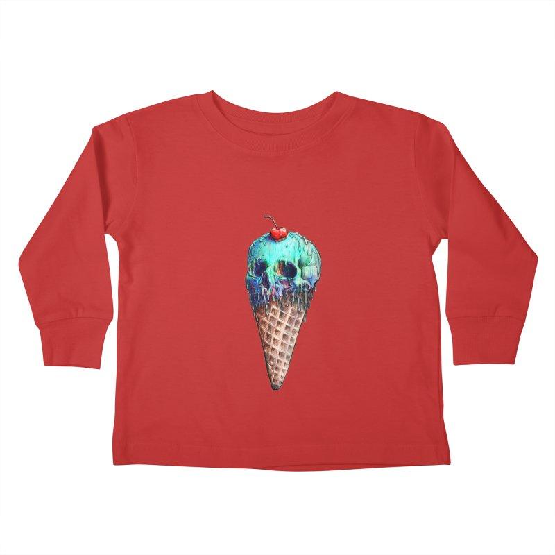 Ice Cream Skull Kids Toddler Longsleeve T-Shirt by nicebleed