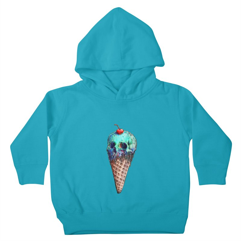 Ice Cream Skull Kids Toddler Pullover Hoody by nicebleed