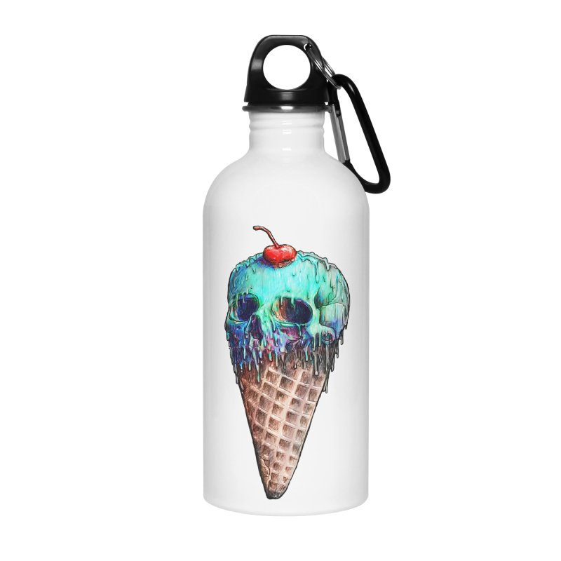 Ice Cream Skull Accessories Water Bottle by nicebleed