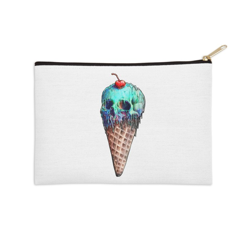 Ice Cream Skull Accessories Zip Pouch by nicebleed