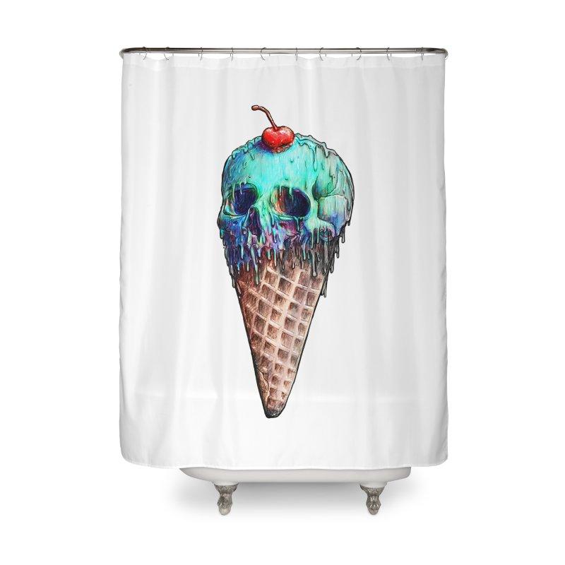 Ice Cream Skull Home Shower Curtain by nicebleed