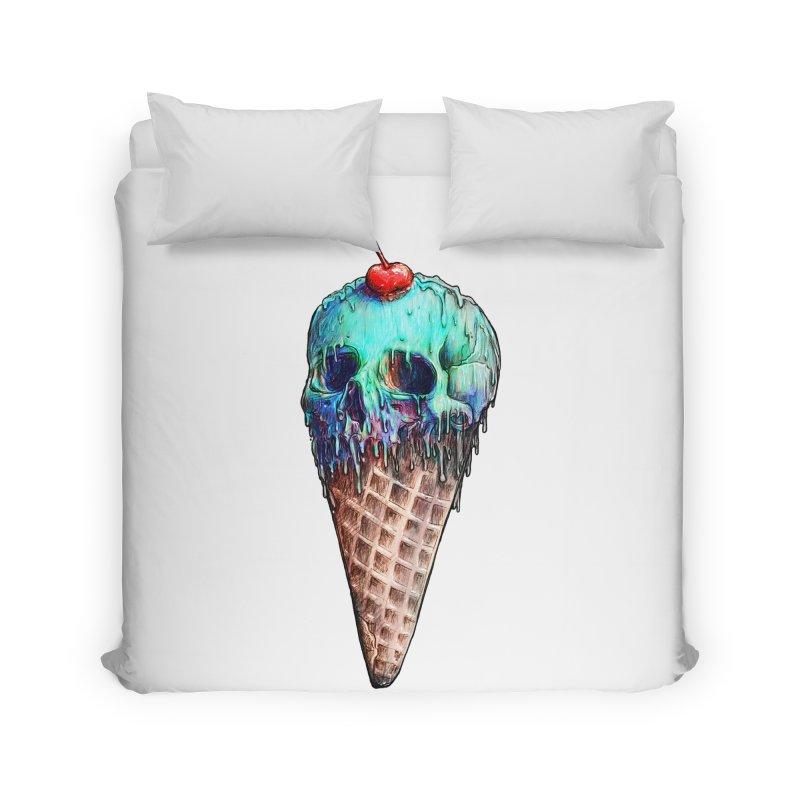 Ice Cream Skull Home Duvet by nicebleed