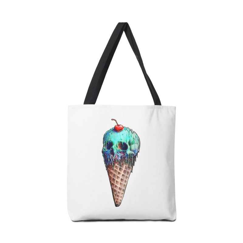 Ice Cream Skull Accessories Bag by nicebleed