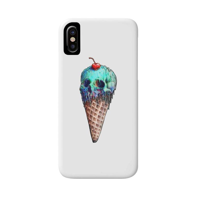 Ice Cream Skull Accessories Phone Case by nicebleed