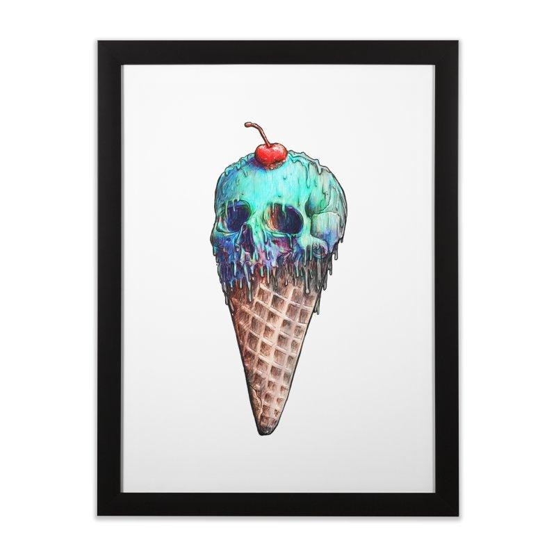 Ice Cream Skull Home Framed Fine Art Print by nicebleed