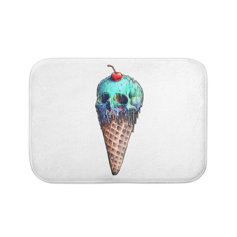Ice Cream Skull Home Bath Mat by nicebleed