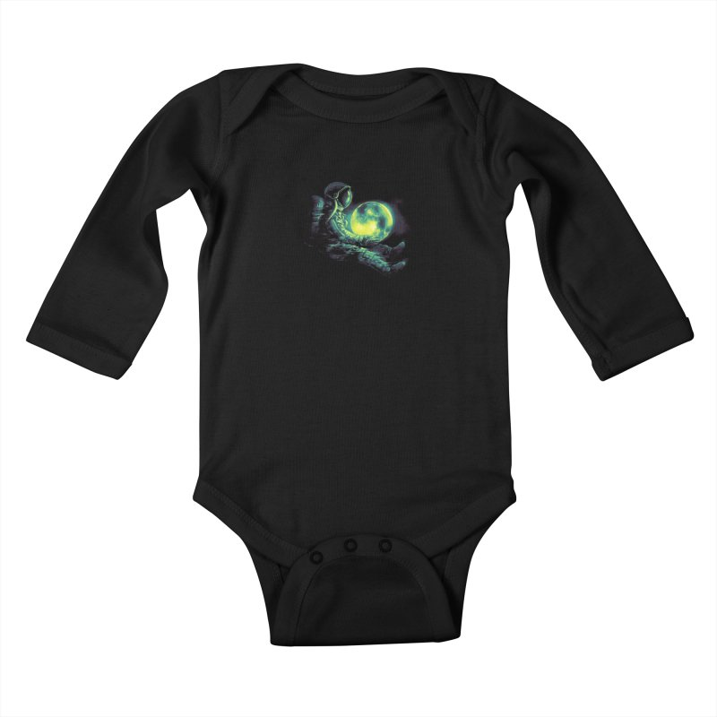 Moon Play Kids Baby Longsleeve Bodysuit by nicebleed