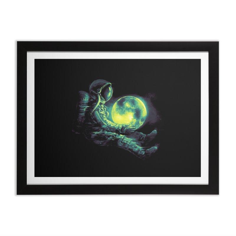 Moon Play Home Framed Fine Art Print by nicebleed