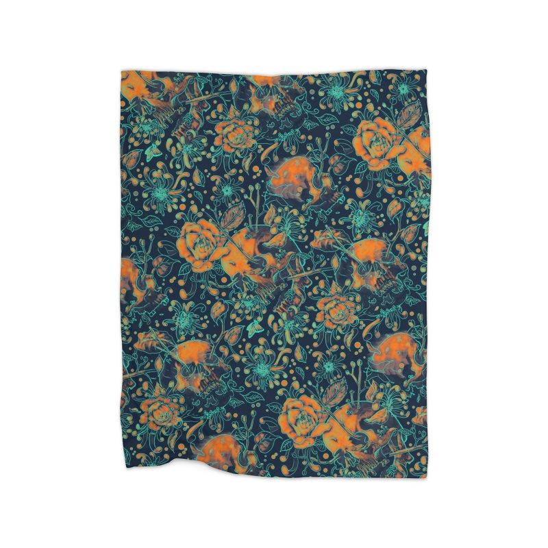 Life & Death Pattern Home Fleece Blanket by nicebleed