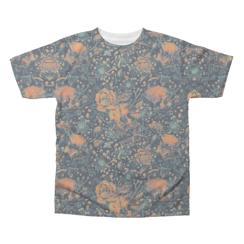 Life & Death Pattern Men's Triblend All Over Print by nicebleed