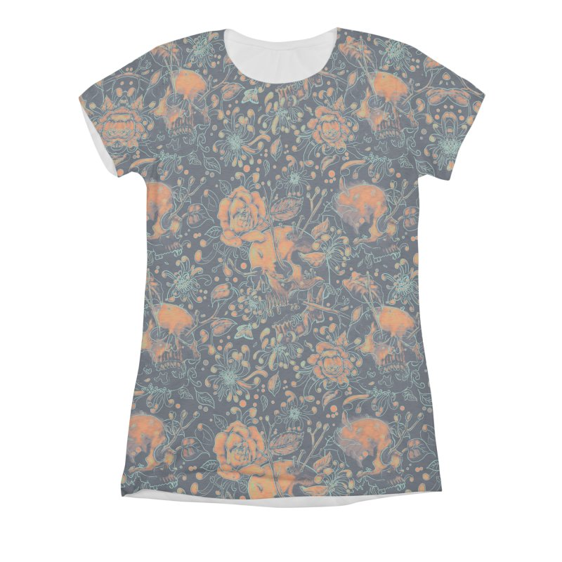 Life & Death Pattern Women's Triblend All Over Print by nicebleed