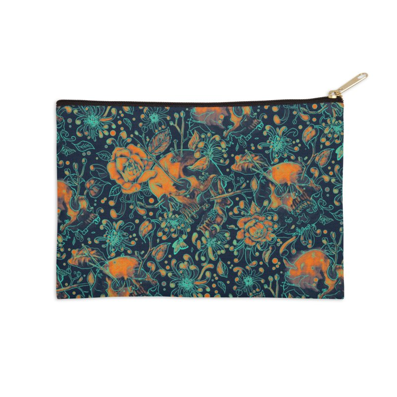 Life & Death Pattern Accessories Zip Pouch by nicebleed