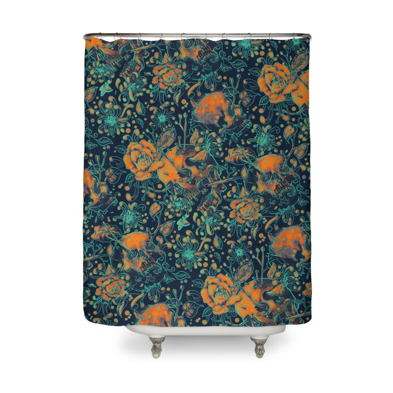 Life & Death Pattern Home Shower Curtain by nicebleed
