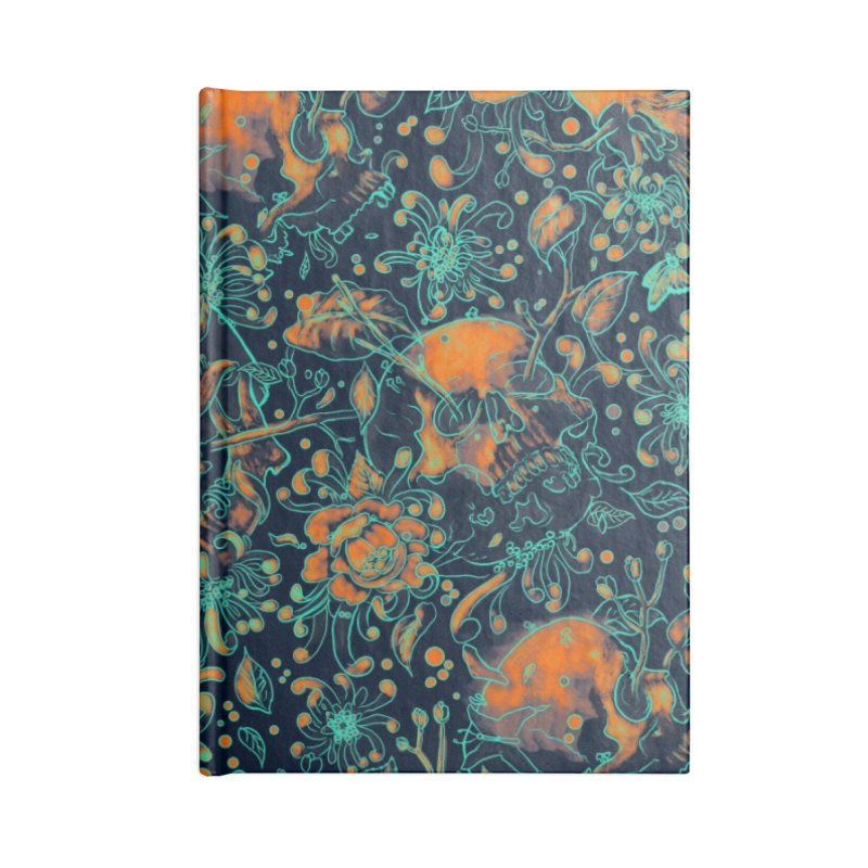 Life & Death Pattern Accessories Notebook by nicebleed