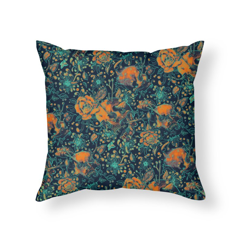 Life & Death Pattern Home Throw Pillow by nicebleed