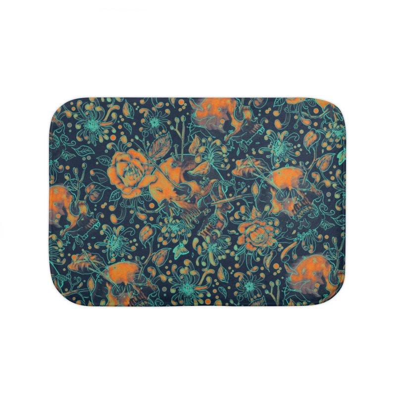 Life & Death Pattern Home Bath Mat by nicebleed