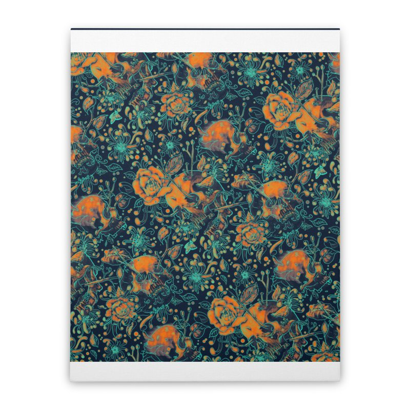 Life & Death Pattern Home Stretched Canvas by nicebleed