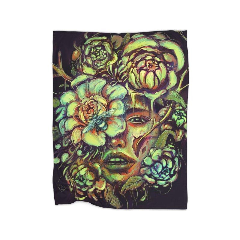 Pollinate Home Fleece Blanket by nicebleed