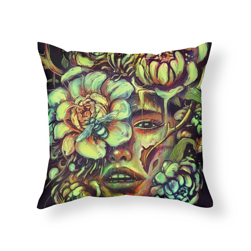Pollinate Home Throw Pillow by nicebleed