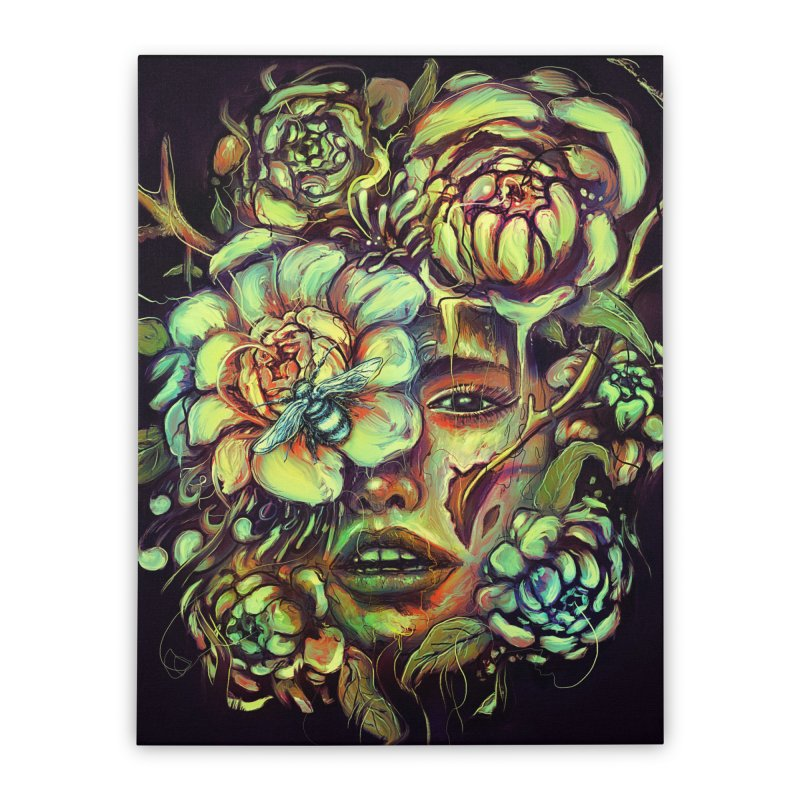 Pollinate Home Stretched Canvas by nicebleed