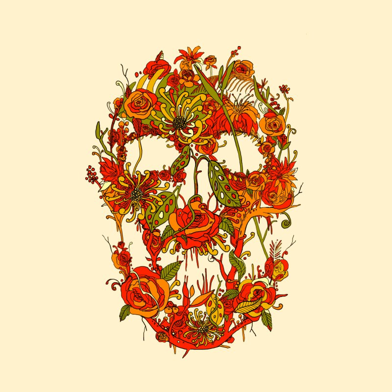 Skull Flora by nicebleed