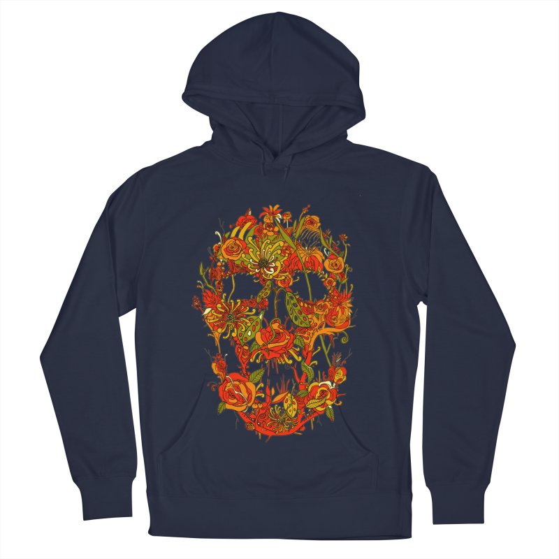 Skull Flora Men's Pullover Hoody by nicebleed