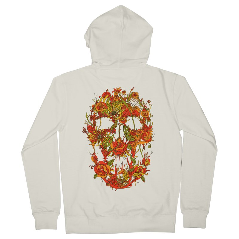 Skull Flora Women's Zip-Up Hoody by nicebleed