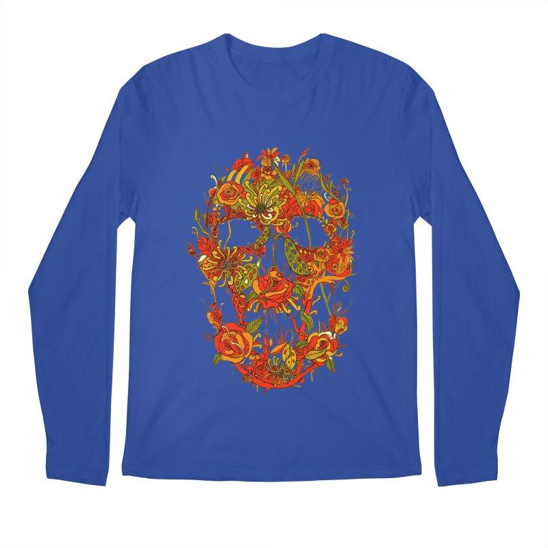 Skull Flora Men's Longsleeve T-Shirt by nicebleed